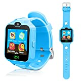 Kids Smart Cell Phone Watch,Smart Watch Phone Boys Girls SIM SD Slot,Unlocked Waterproof SOS Phone Watch Camera Games Touchscreen Children Cell Watch Holiday Birthday Gift