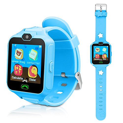 (Kids Smart Cell Phone Watch,Smart Watch Phone Boys Girls SIM SD Slot,Unlocked Waterproof SOS Phone Watch Camera Games Touchscreen Children Cell Watch Holiday Birthday Gift)