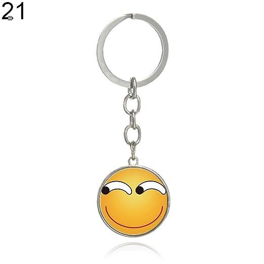 cuiyoush - Llavero con diseño de Emoticono: Amazon.es: Hogar