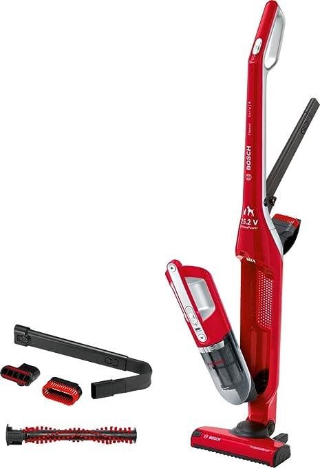 Bosch Flexxo Serie 4 BBH3ZOO25 Aspirador escoba 2 en 1, sin cable y de mano, autonomía de 55 minutos, especial animales con accesorios extra, color rojo: 172.34: Amazon.es: Hogar