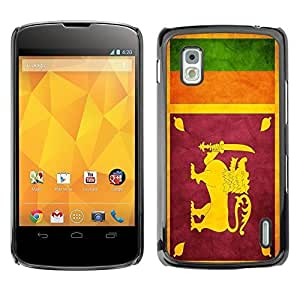 Shell-Star ( National Flag Series-Sri Lanka ) Snap On Hard Protective Case For LG Google NEXUS 4 / Mako / E960