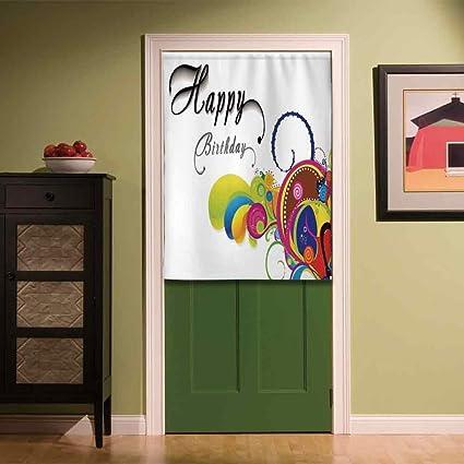 Amazon com: YOLIYANA Birthday Decorations Fabric Art Door