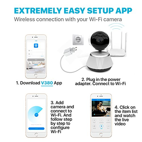 [New 2019 Upgraded] Wireless Security Camera - WiFi Home Surveillance 2.4G IP Remote Cameras for Baby/Pet/Nanny Monitor, Pan/Tilt, Two-Way Audio & Night Vision, 720p HD - Best App for iOS, Android by The Best Industries (Image #3)