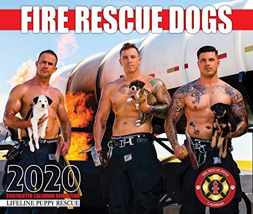 2020 Fire Rescue Dogs Calendar (Sexy Men Calander)