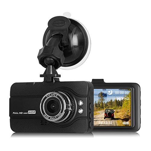 Dash Cam for Cars, Coredy 1080P Full HD 170 Degree Wide Angle Super Night Vision Dashcam with Suction Cup Mount, 3.0 inch LCD, G-Sensor, Emergency Recording, Parking Motion, Loop Recording (DC-10)