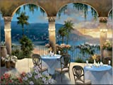 Ceramic Tile Mural - Amalfi Holiday I - by TC Chiu - Kitchen backsplash/Bathroom Shower