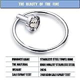 Stainless Steel Bathroom Towel Ring Free of Punch