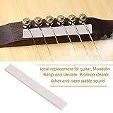 6Pcs Bone Guitar Bridge Saddle Blank for Acoustic Guitar Classical Mandolin Banjo Ukulele