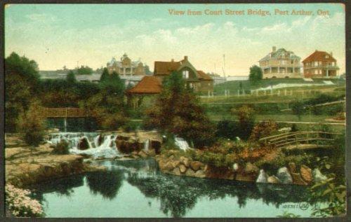 Court Arthur Frog (Court St Bridge Port Arthur ON postcard 1910)