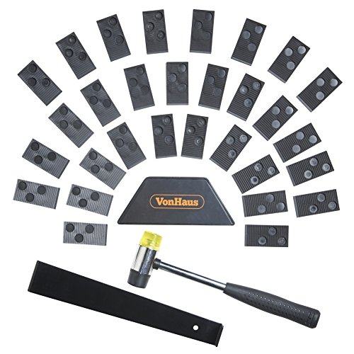 VonHaus Laminate Wood Flooring Installation Kit with 30 Spacers, Tapping Block, Pull Bar and Mallet