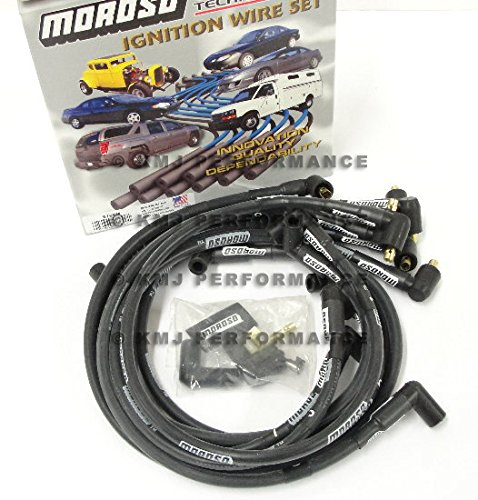 - Moroso 9765M Mag-Tune Spark Plug Wires Chevy Small Block Under Header Non-HEI 90 Deg SBC