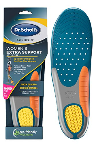 Dr. Scholl's Insoles for Women Extra Support Pain Relief Orthotics Shoe Inserts, Designed for Plus-Size, 1 Count