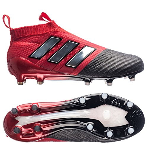 adidas Men's ACE 17+ PURECONTROL Soccer Cleat (10, Red/White/Black)