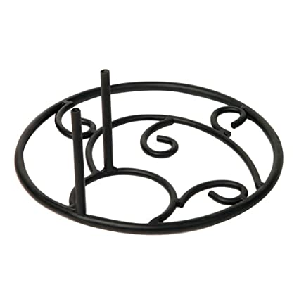 Evergreen Flag Black Metal House and Estate Flag Pole with Cast Iron Country Sta