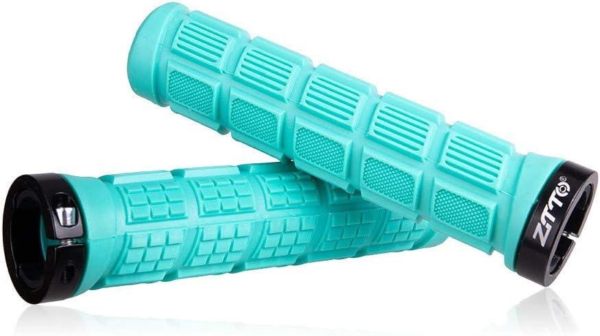 Antideslizantes Azul para Deportes al Aire Libre a Prueba de Golpes de Espuma supersuaves Pu/ños para Manillar de Bicicleta