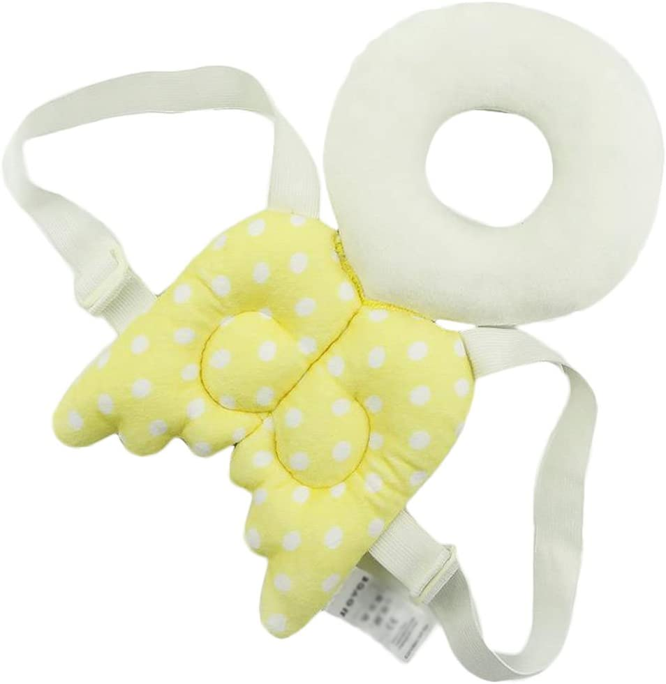LAAT Cute Angel Wings Adjustable Protective Cushion for Babys Head Rose S S for Children and Babies to Prevent Head Injuries
