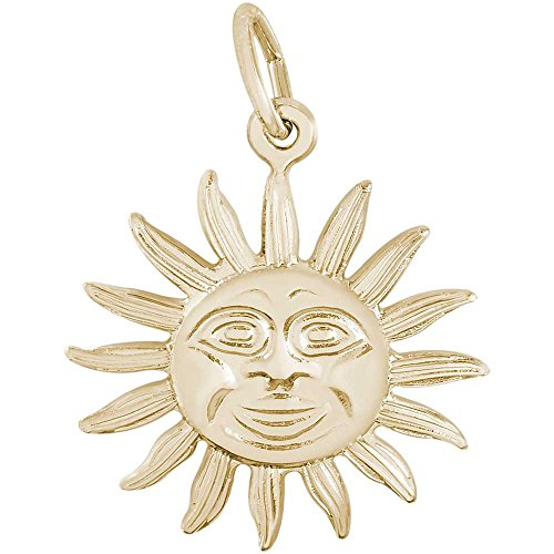 Rembrandt Charms Sun Charm, 14K Yellow Gold 14k Yellow Gold Sun Charm