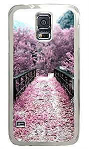 Samsung S5 case customized covers Sakura Pink Flowers Nature PC Transparent Custom Samsung Galaxy S5 Case Cover