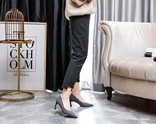 Gray LUCKY A Satin Mariée Party CLOVER Taille Multicolore Sandales De Flat EU36 40 Robe Chaussures Personnalisable Femmes Bal Mariage 36 Hauts À Talons xCSrx