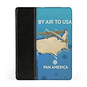USA Vintage Travel poster Premium Faux PU Leather Case Flip Case for Apple? iPad 2 / 3 and iPad 4 by Nick Greenaway + FREE Crystal Clear Screen Protector