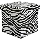 GT Ottoman Folding Storage Containers Zebra Upholstered Stool Bench Home Ottoman Tray Lid Tufted Furniture Ottoman Bench Seat Living Room & E book Easy 2 Find.