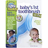 Baby Buddy Baby's 1st Toothbrush Stage 4 for Babies/Toddlers, Kids Love Them, Blue