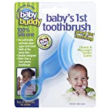 Baby Buddy Baby's 1st Toothbrush Teether—Innovative 6-Stage Oral Care System Grows With Your Child—Stage 4 for Babies/Toddlers—Kids Love Them, Blue