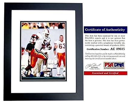Edgerrin James Autographed Signed Miami Hurricanes 8x10 Photo Black ... ede0be34f