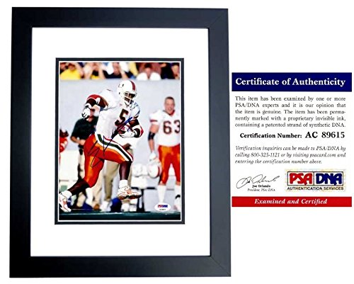 Edgerrin James Autographed Signed Miami Hurricanes 8x10 Photo Black Custom Frame - PSA/DNA - Edgerrin Framed James