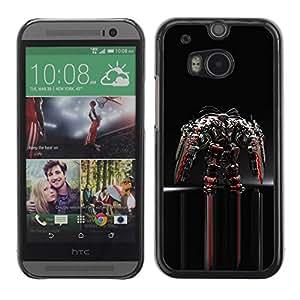 Paccase / SLIM PC / Aliminium Casa Carcasa Funda Case Cover para - Mech Warrior - HTC One M8