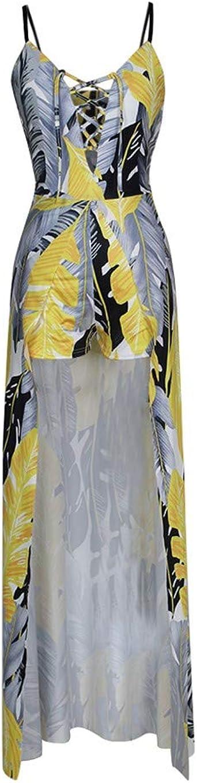 JERFER Blusa Vestidos Mujer Honda Impresión de la Pluma Moda ...