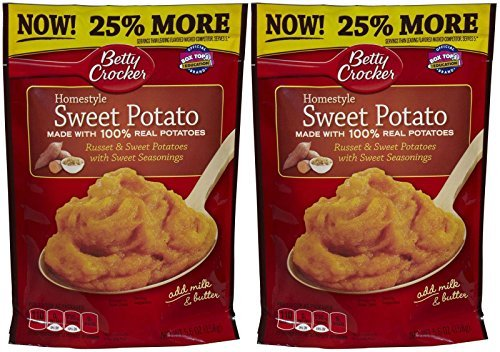 Betty Crocker Mashed Potato Homestyle - Sweet Potato - 5.6 oz - 2 Pack