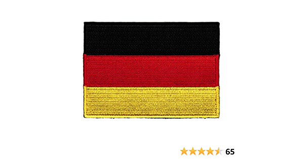 Deutsch Federal Republic of Germany Flag Embroidered Sew on Patch Free Postage