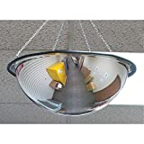 Zenith Safety Products Dome Mirror, Full Dome 360 Degree, Open Top, 24-Inch Diameter
