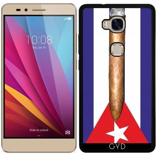 Funda de silicona para Huawei Honor 5X - Bandera De Cuba Cigarro by hera56