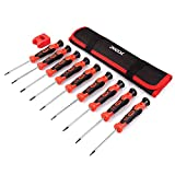Precision Screwdriver Set, Phillips, Flat, Torx and Pentalobe Screwdriver Set with Case (Pack of 9) for Phone, Computer, Laptop, Watch, Electronics, Jewelry, Eyeglass