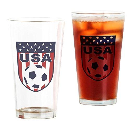 Soccer Pint Glass - CafePress USA Soccer Pint Glass, 16 oz. Drinking Glass