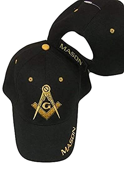 6740d4cfab9 Image Unavailable. Image not available for. Color  Freemason Embroidered  Black Adjustable Hat Mason Masonic Lodge Baseball Cap
