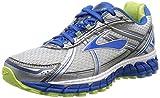 Brooks Womens Adrenaline GTS 15 Running Shoe, White/Blue/Green, US 6