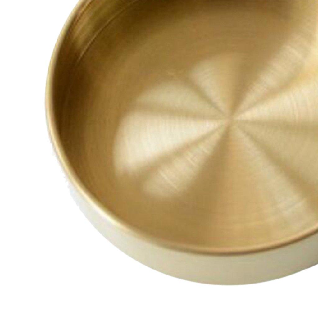 Gold S B Blesiya Metall Deko Teller Rund Messing geb/äckschale Weihnachten kuchenplatte