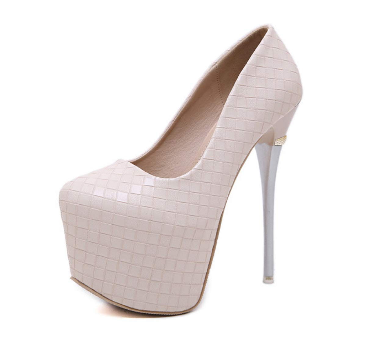 DANDANJIE Frauen runde Zehe Stiletto High Heel Plattform Slip On Sexy Party Schuhe für Frühjahr 2019