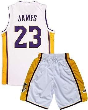 Camiseta de baloncesto Lakers Lebron James Kobe Bryant Fans de la NBA para niños y adolescentes adultos, james-white, XL(165-170CM): Amazon.es: Deportes y aire libre