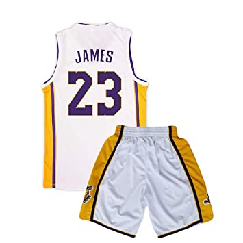 Camiseta de Baloncesto de los Lakers Lebron James Kobe Bryant Fanáticos de la NBA para niños Adultos y Adolescentes,James-White,XL(165-170CM): Amazon.es: ...