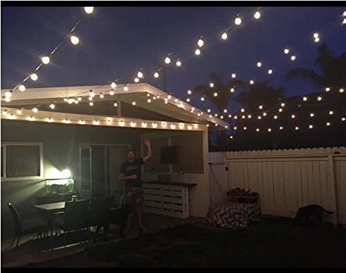 25ft G40 Globe String Lights With Clear Bulbs Ul Listed