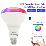Bluetooth Smart Bulb Smart light bulb led color changing bulb (80W Equivalent) Multicolor LED Bulb-App Smartphone Controlled, Wake Up Light, Speaker &Music Sync Color- Dimmable RGB LED Light-No Hub