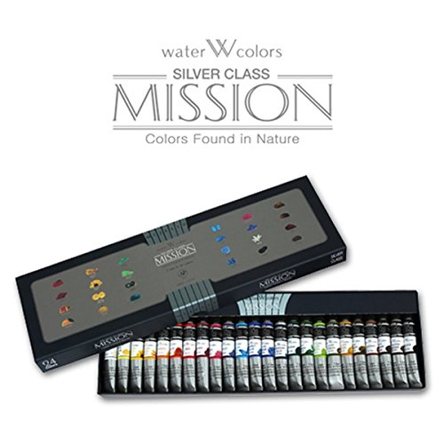 [Mwc-7524] Mijello Mission Silver Class 7.5ml Tube X 24colors Watercolor Paints