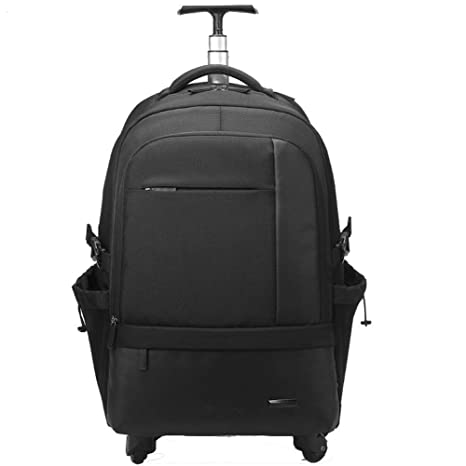 934d9f65e9 DYYTR Trolley Zaino Unisex Zaino con Ruote Impermeabile Campus School  Backpack Travel Backpack Laptop Bag Nero