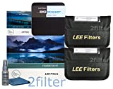 Lee Filters 77mm Landscape Essentials Kit 1 - FK Holder, 77mm Wide Angle Adapter Ring, 4x6 Grad ND 0.6 SE, 4x6 Grad ND 0.9 SE and 4x4 Big Stopper with 2filter cleaning kit