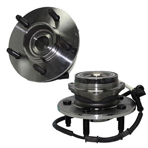 Detroit Axle - Both (2) Front Wheel Hub and Bearing Assemblies w/14mm Bolt Holes for 4x4 00-03 F-150 & 04 Heritage (Best Wheels For F150)