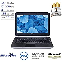 Dell Laptop E5420 intel Core i7-620M 2.7G 8G DDR3 Ram 1TB Hard Drive DVD Windows 10 Pro (Certified Refurbished)